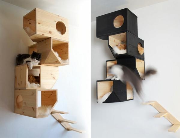 katzenmöbel holz modular regale