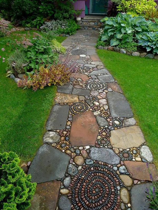 Gartendeko aus stein  15 magische Kieswege, die wie Flüsse fließen