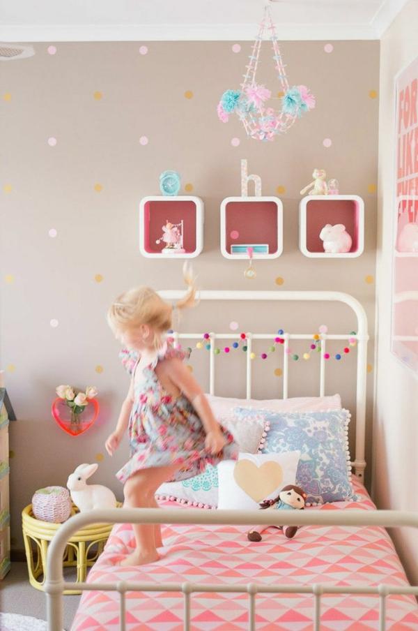 Charmant Kinderzimmer Einrichten Bett Wandgestaltung Ideen Wandtapeten Kinderzimmer  Gestalten U2013 Kreative Ideen ...