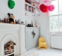 Facebook Twitter Google+ Pinterest. Kinderzimmer Einrichten Bett  Wandgestaltung Ideen Wandtapeten