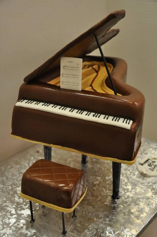 kuchen torten musik weiß braun piano hocker
