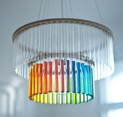 Lampenschirm selber machen bastelideen aus for Kronleuchter mit lampenschirm