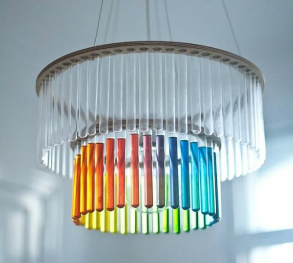 lampenschirm selber machen bastelideen aus alltagsgegenst nden. Black Bedroom Furniture Sets. Home Design Ideas