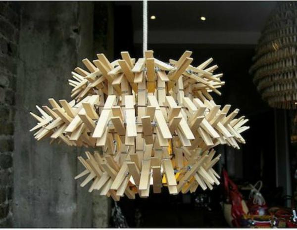 lampenschirme selber machen wäscheklammer bastelideen kronleuchter