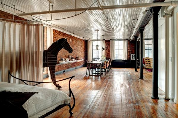 Coole Loftwohnung Im Amerikanischen Stil ...