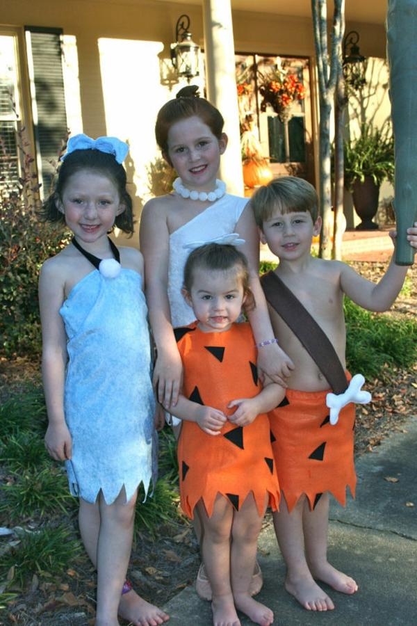 halloween kostüme kinder familie feuerstein