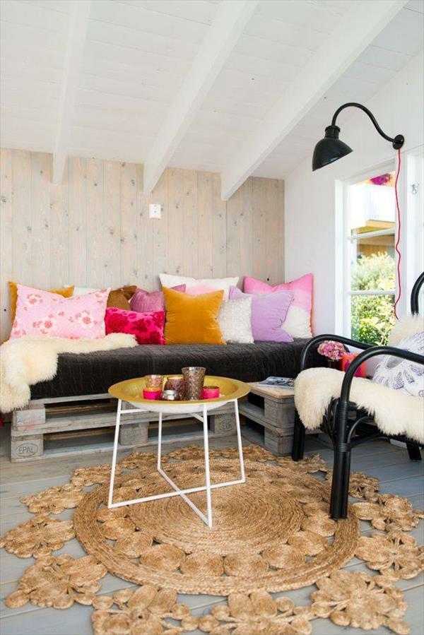 massive Holzmöbel aus Paletten modern
