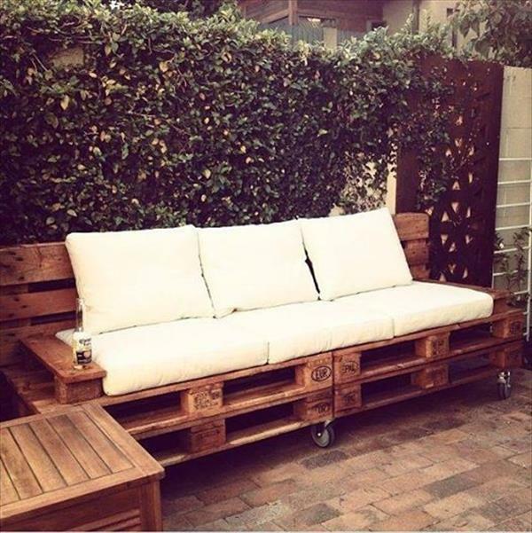 massive Holzmöbel aus Paletten sofa gestell