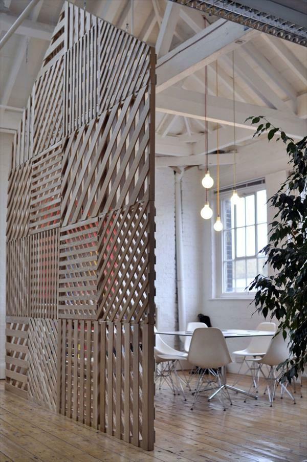 massive Holzmöbel aus Paletten trennwand aufteiler