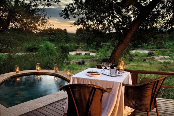 moderne architektur hotel afrika essen im freien