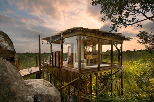 moderne architektur hotel afrika natur