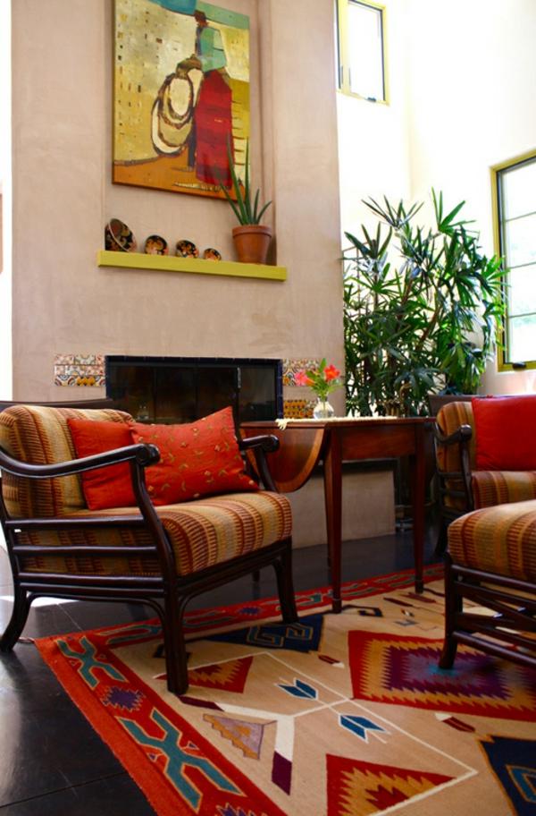moderne einrichtungsideen mexikanischer stil möbel farbpalette