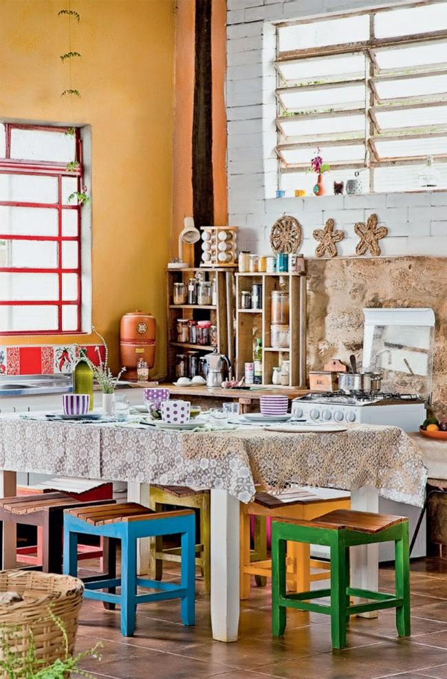 nachhaltige architektur wohnideen rustikales esszimmer landhausstil farbgestaltung industrieller look