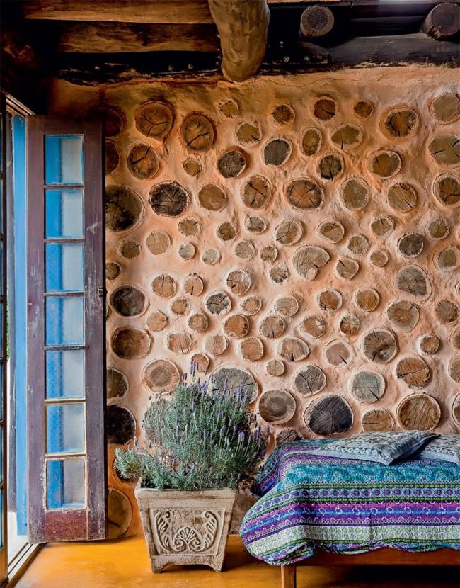 nachhaltige architektur wohnideen wohnzimmer rustikal landhausstil holz wandgestaltung