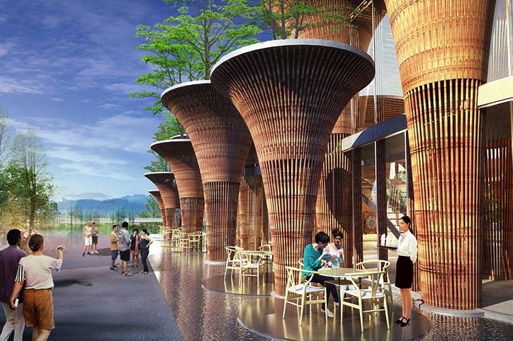 nachhaltige baustoffe vietman pavilion world expo 2015