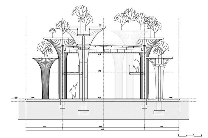 nachhaltige gebäude bambus vietmanesischer pavillon world expo 2015