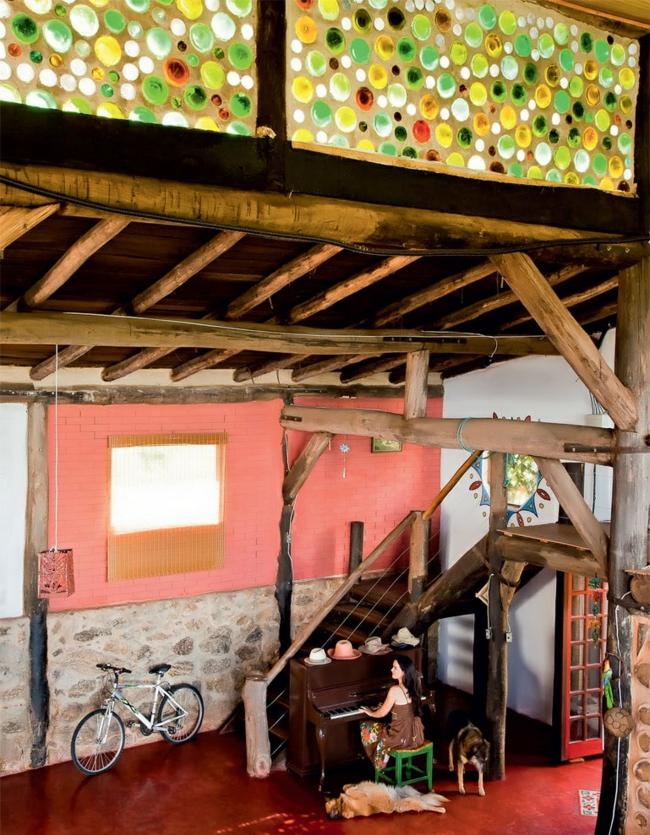 nachhaltige wohnideen rustikales wohnbereich einrichten farbgestaltung ideen