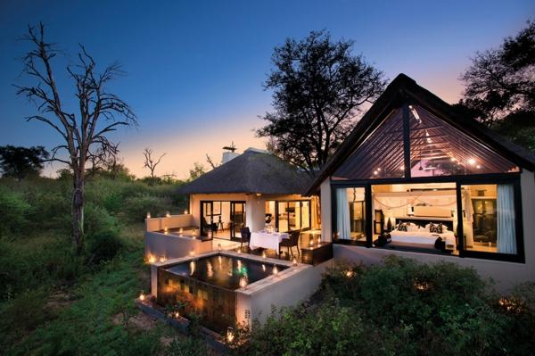 natur landschaft moderne architektur hotel in afrika