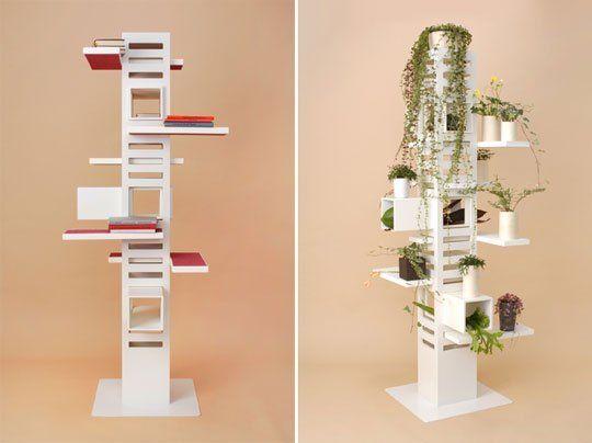 necobaco katzenbaum ideen weiß regale pflanzen