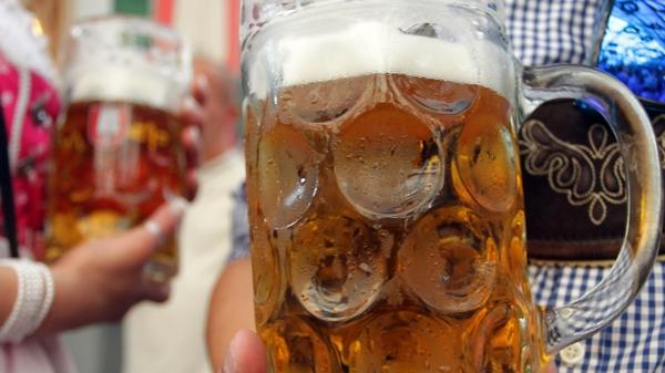 oktoberfest münchen 2014 bierfest eine maß bier bierkrug
