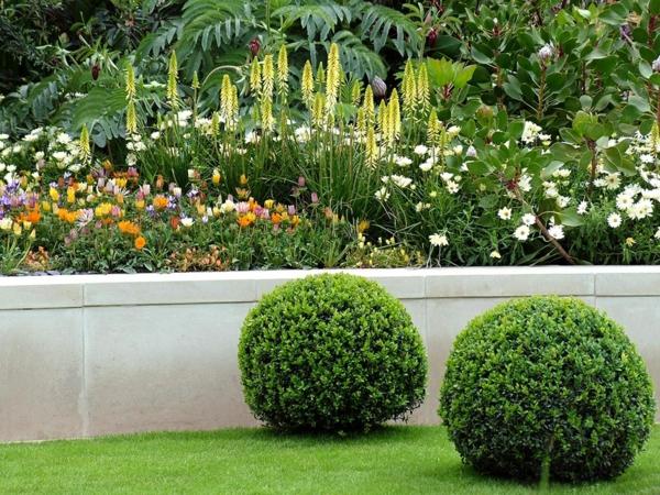 patio Gartengestaltung mit Steinen und Kies
