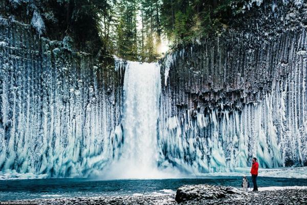 landschaft natur usa bilder wasserfall