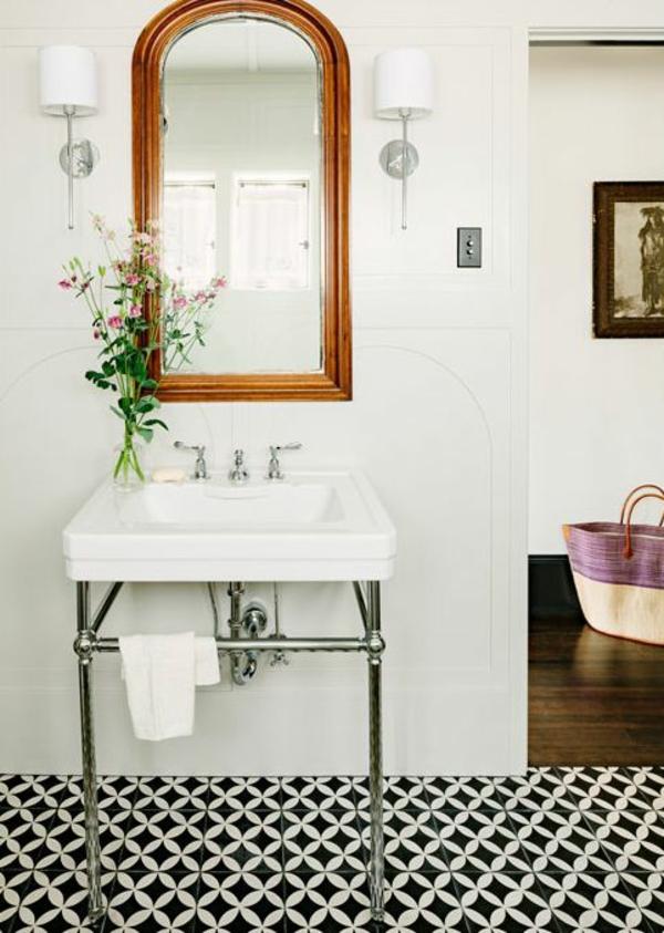 badezimmer waschbecken feng shui blumen