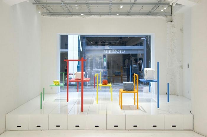 schaufenster dekorieren Yochi Yamamoto design ideen