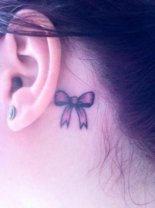 tattoo hinterm ohr vorlagen und ideen fuer einen