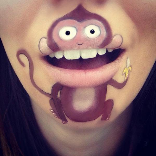 Kreative Maskenbildnerin Transformiert Ihre Lippen In Coole Comic