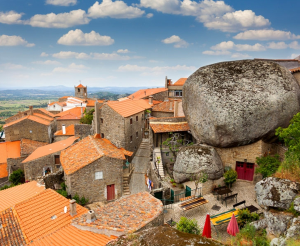 Monsanto architektur portugal blick vom oben