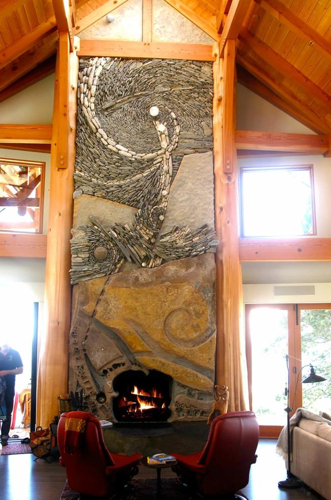 steinwand als kunstwerk was k nnen k nstler aus steinen erschaffen. Black Bedroom Furniture Sets. Home Design Ideas
