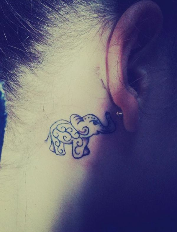 tattoo ohr tattoos frauen elefant