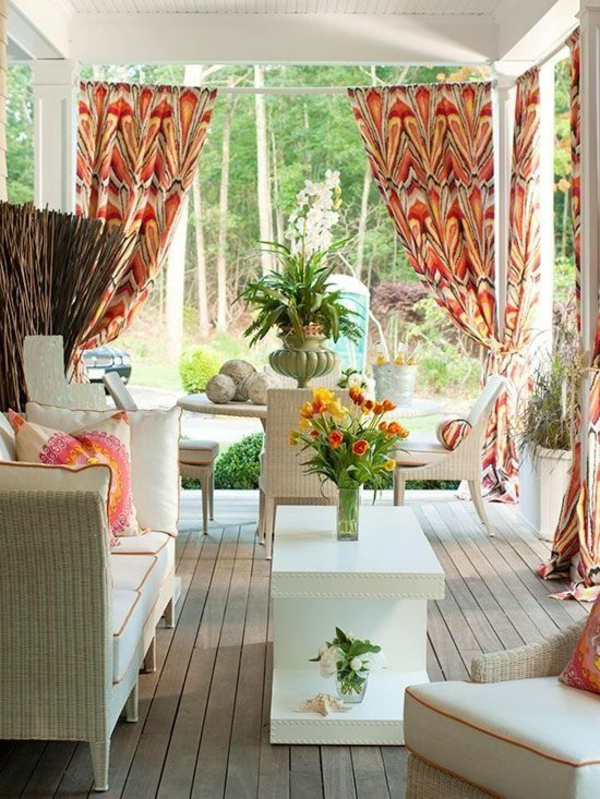 terrassengestaltung veranda outdoor möbel