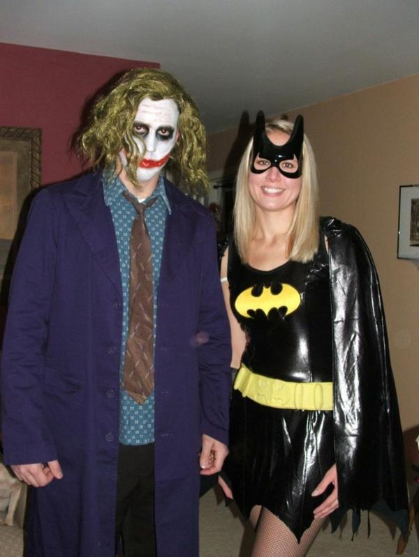 halloween kostüme paar joker batman mädchen