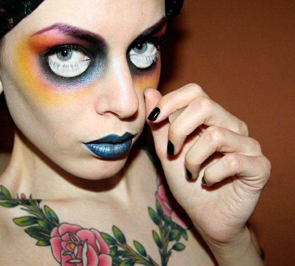 ideen halloween schminktipps party make up