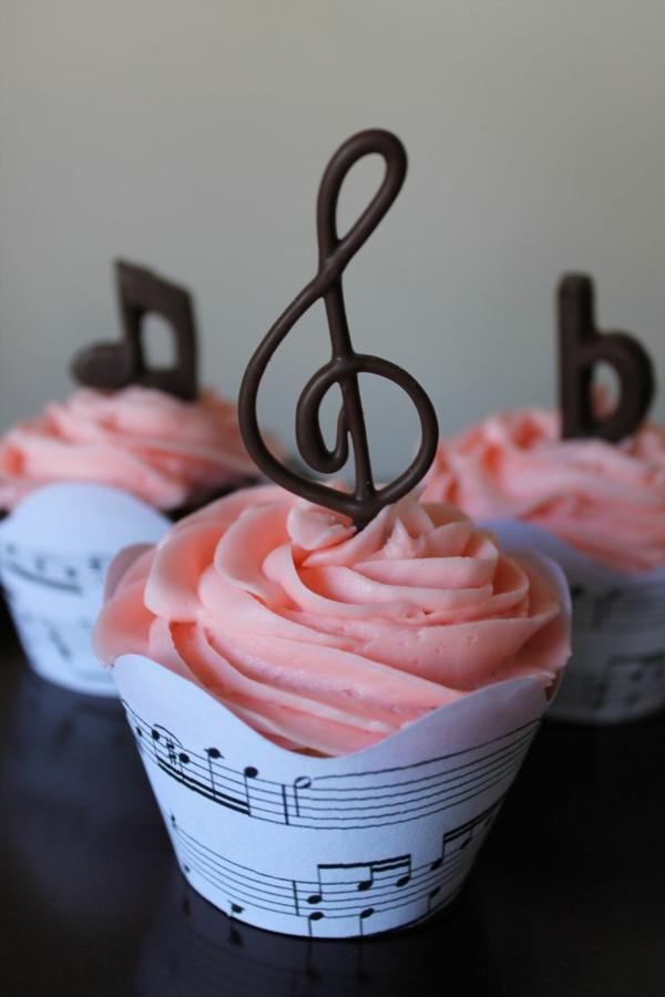 tolle torten hochzeit geburtstag musik niedlich rosa