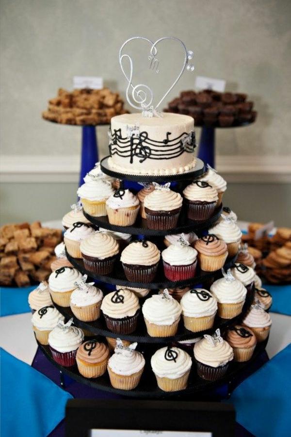 Tolle Torten Hochzeit Geburtstag Musik Ständer Muffins Pictures