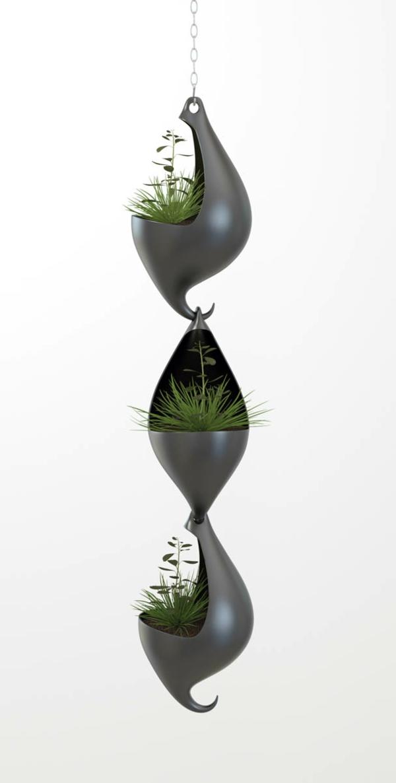 topfpflanzen hängend pflanzgefäße designer ideen kübelpflanzen kette
