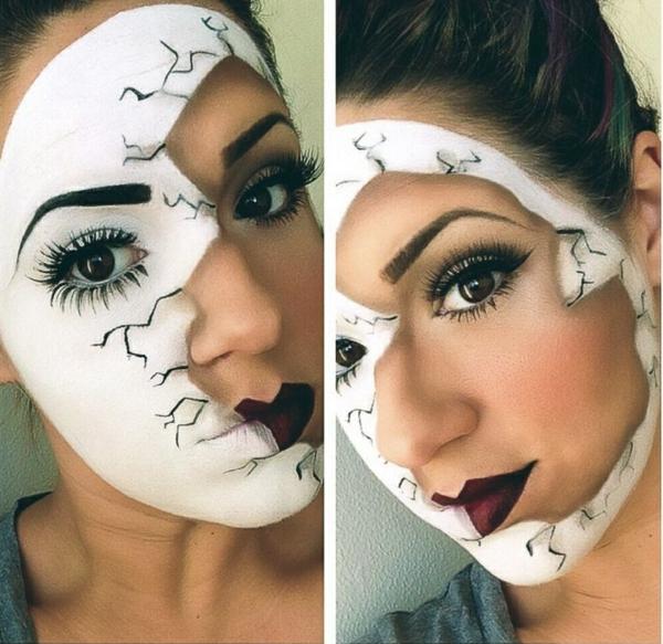 halloween schminken ideen teilweise