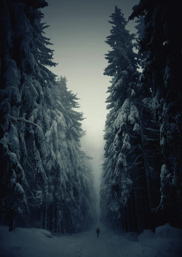 landschaft tschechien bilder winter