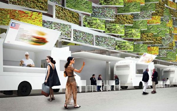 vertikaler garten USA Pavilion Milan Expo 5 architektur und design