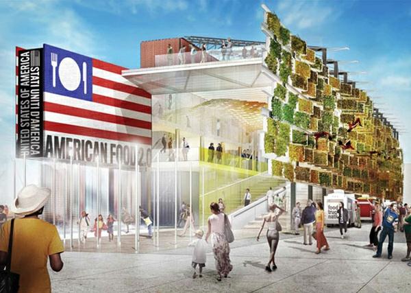 vertikaler garten USA Pavilion Milan Expo 5 eingang