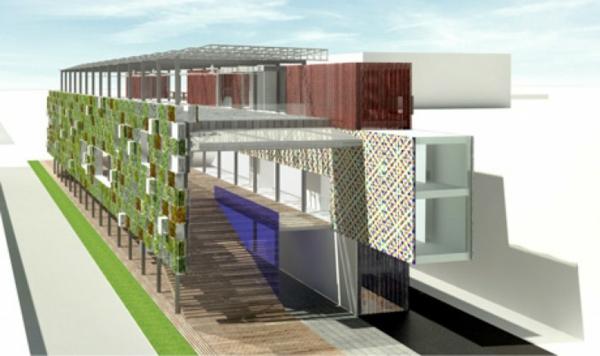vertikaler garten USA Pavilion Milan Expo 5 nachhaltige architektur bauplan