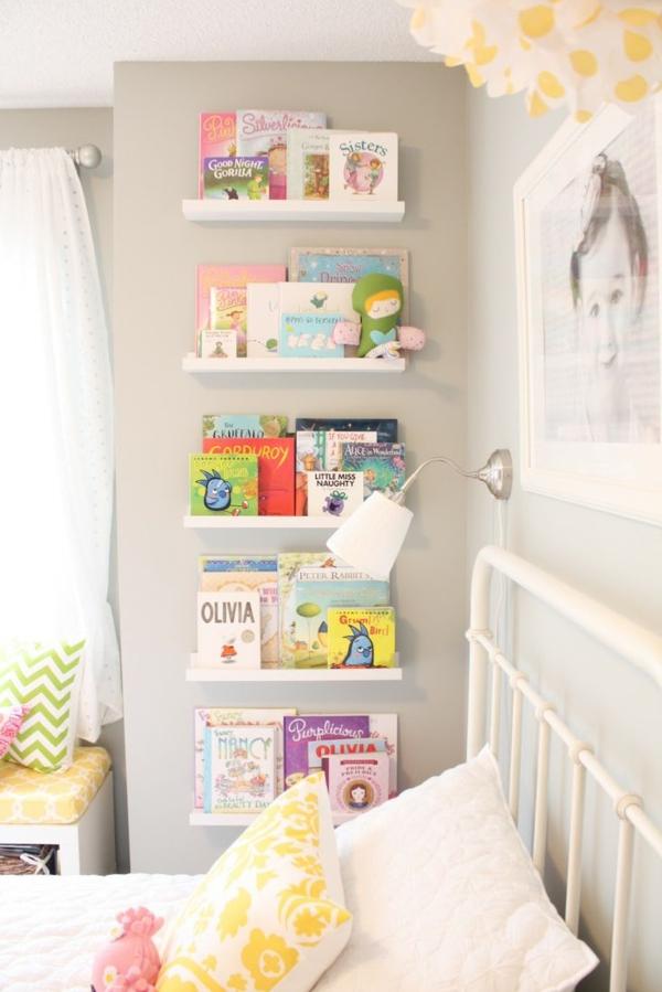 Wandgestaltung Kinderzimmer Diy : wandgestaltung kinderzimmer gestalten bücherregal wandregale