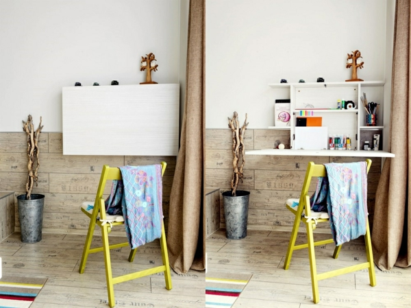 wohnideen gelbe stühle dekoideen