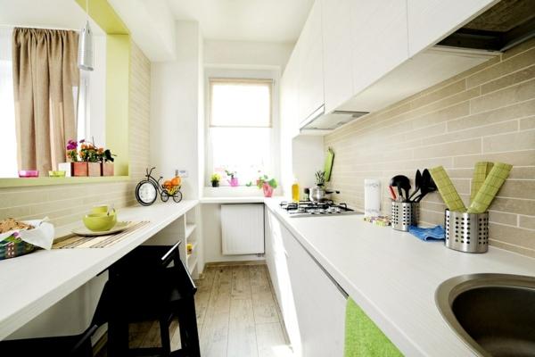wohnideen küche arbeitsfläche küchenrückwand