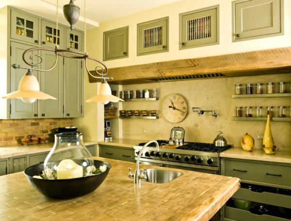 wohnideen küche küchenmöbel englischer stil einrichtungsideen farben