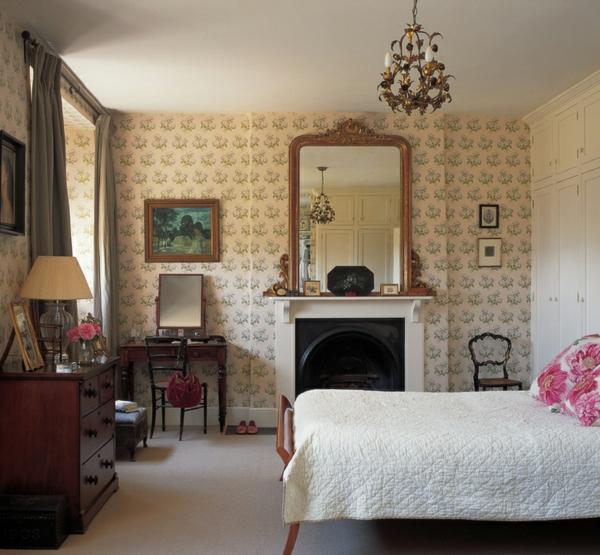 wohnideen schlafzimmer möbel bett englischer stil