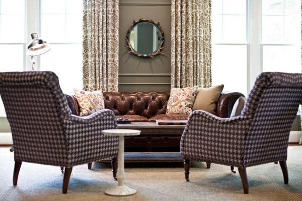 wohnideen wohnzimmer polstermöbel wohnzimmer sofa englischer stil wandfarbe grau